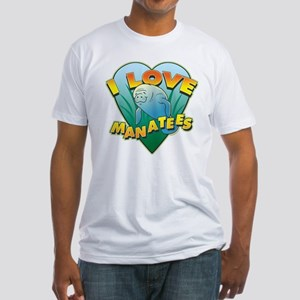 I Love Manatees Fitted T-Shirt