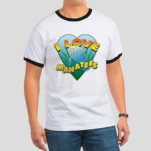 I Love Manatees Ringer T