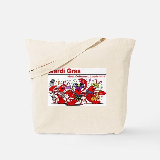 Dancing Lobsters Tote Bag
