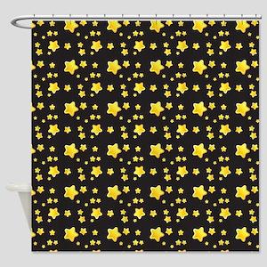 Dark night starry skies pattern Shower Curtain