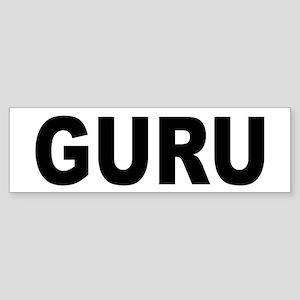 Guru Bumper Sticker