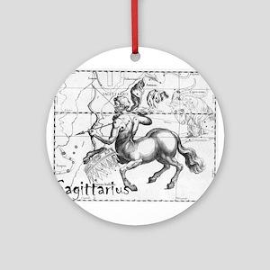 Sagittarius 17th Centure drawing Round Ornament