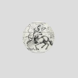 Sagittarius 17th Centure drawing Mini Button