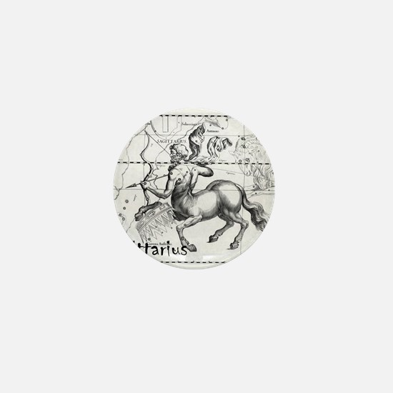 Sagittarius 17th Centure drawing Mini Button
