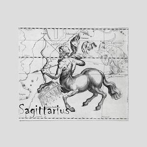 Sagittarius 17th Centure drawing Throw Blanket