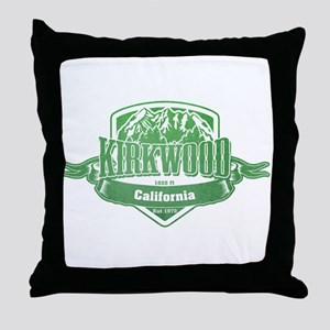 Kirkwood California Ski Resort 3 Throw Pillow