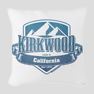 Kirkwood California Ski Resort 1 Woven Throw Pillo