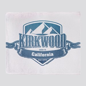 Kirkwood California Ski Resort 1 Throw Blanket