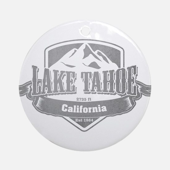 Lake Tahoe California Ski Resort 5 Ornament (Round