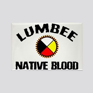 Lumbee Native Blood Rectangle Magnet