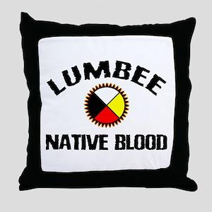 Lumbee Native Blood Throw Pillow