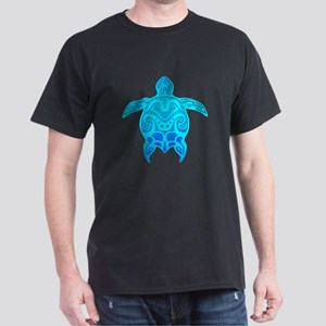 Blue Tribal Turtle T-Shirt