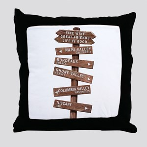 WL-1 Wine Lover Throw Pillow