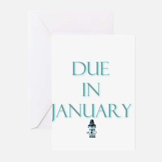 Due in January Greeting Cards (Pk of 10)