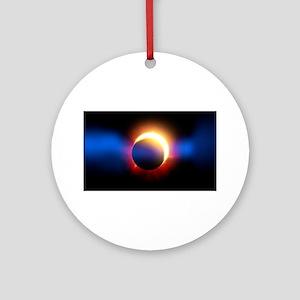 Solar Eclipse Round Ornament
