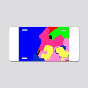 Roy Colouful Abstract Aluminum License Plate