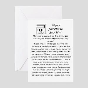 Wayeb Traits Greeting Card
