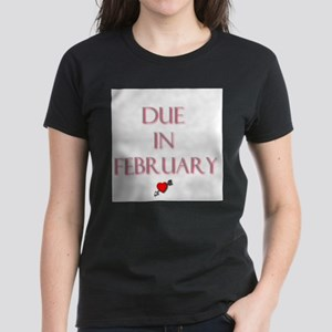 Due in February Women's Dark T-Shirt