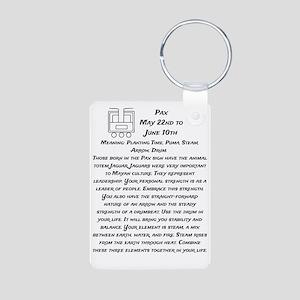 Pax Traits Aluminum Photo Keychain