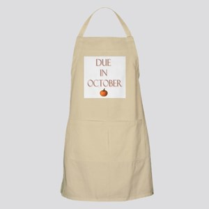 Due in October BBQ Apron