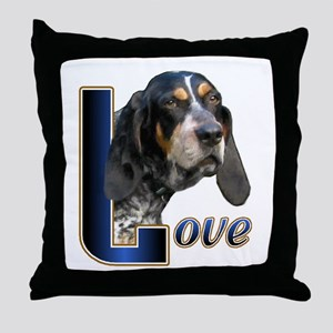 Bluetick Coonhound Love Throw Pillow