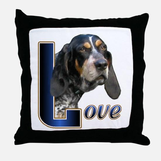 Bluetick Coonhound Love Throw Pillow