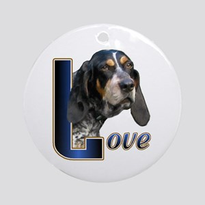 Bluetick Coonhound Love Ornament (Round)