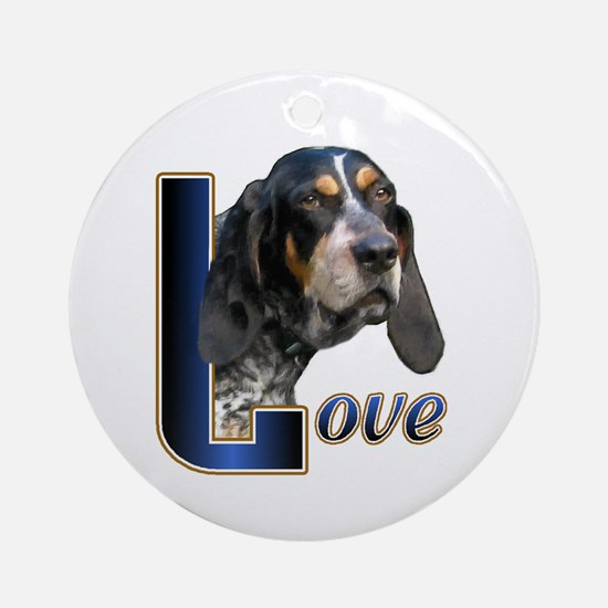 Bluetick Coonhound Love Ornament (Round)