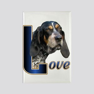 Bluetick Coonhound Love Rectangle Magnet (10 pack)