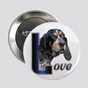 "Bluetick Coonhound Love 2.25"" Button (10 pack)"