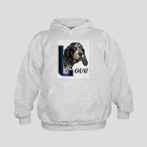 Bluetick Coonhound Love Kids Hoodie