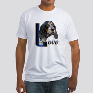 Bluetick Coonhound Love Fitted T-Shirt