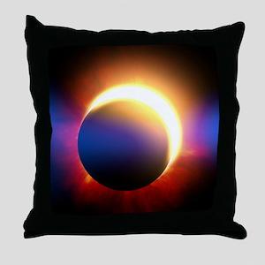 Solar Eclipse Throw Pillow