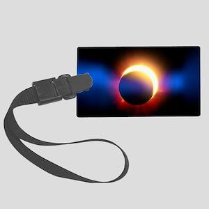 Solar Eclipse Large Luggage Tag