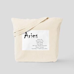 Aries Traits Tote Bag