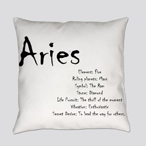 Aries Traits Everyday Pillow
