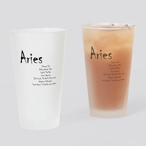 Aries Traits Drinking Glass