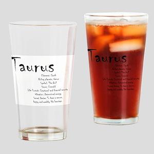 Taurus Traits Drinking Glass