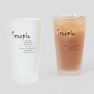 Scorpio Traits Drinking Glass