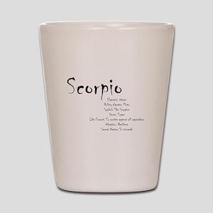 Scorpio Traits Shot Glass