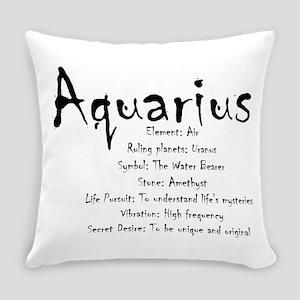 Aquarius Traits Everyday Pillow
