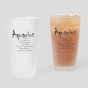 Aquarius Traits Drinking Glass