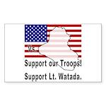 Support Lt. Watada! Rectangle Sticker