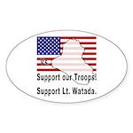 Support Lt. Watada! Oval Sticker