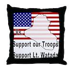 Support Lt. Watada! Throw Pillow
