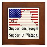 Support Lt. Watada! Framed Tile