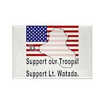 Support Lt. Watada! Rectangle Magnet