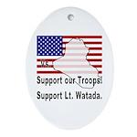 Support Lt. Watada! Oval Ornament