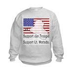 Support Lt. Watada! Kids Sweatshirt