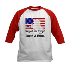 Support Lt. Watada! (2-Sided) Kids Baseball Jersey